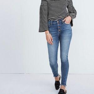 Madewell Skinny Jeans Cordova Wash High-Rise Sz 32